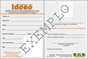 Carteira Do Idoso Rede De Assistência Social De Ponta Grossa